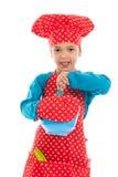 Studio portrait boy as little cook Stock Images