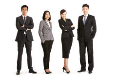 Studio Portrait Of Chinese Business Team Royalty Free Stock Images