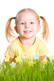 Studio portrait of cute little girl Royalty Free Stock Photography