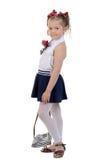 Studio portrait of cute little girl Stock Image
