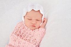 Portrait of cute newborn baby Stock Photo