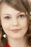 Studio-Portrait der lächelnden Jugendlichen Stockfotos