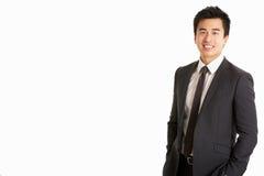 Studio-Portrait des chinesischen Geschäftsmannes Stockfotos