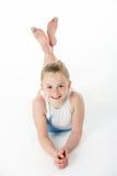 Studio-Portrait des jungen weiblichen Gymnast stockfotografie