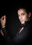 Studio portrait of elegant man Royalty Free Stock Images