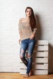 Studio portrait of fashion model Stock Photo