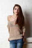 Studio portrait of fashion model Royalty Free Stock Photography