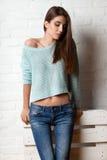 Studio portrait of fashion model Stock Images