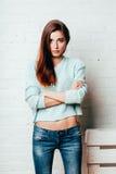 Studio portrait of fashion model Stock Photos