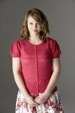 Studio Portrait Of Fashionably Dressed Teenage Gir Stock Image