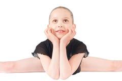 Studio portrait of girl gymnasts Stock Photos