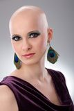 Studio portrait of hairless woman Royalty Free Stock Images
