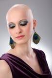 Studio portrait of hairless woman Stock Image