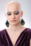 Studio portrait of hairless woman Royalty Free Stock Photo