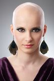 Studio portrait of hairless woman Stock Images