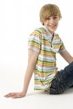 Studio Portrait Of Happy Teenage Boy Royalty Free Stock Images
