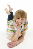 Studio Portrait Of Happy Teenage Boy Royalty Free Stock Photography