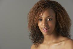 Studio Portrait Of Happy Teenage Girl Royalty Free Stock Photography