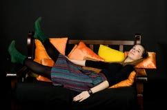 Studio portrait of a lady Stock Photography