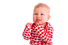 Studio portrait of little baby Royalty Free Stock Photography
