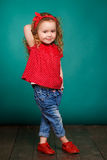 Studio portrait of a little girl. Royalty Free Stock Images