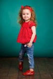 Studio portrait of a little girl. Stock Photography