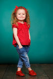 Studio portrait of a little girl. Royalty Free Stock Photo