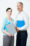 Studio Portrait Of Male And Female Pre School Teachers Royalty Free Stock Photography