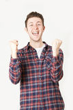 Studio Portrait Of Man With Jubilant Expression Stock Photography