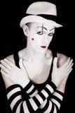 Studio portrait of mime p Royalty Free Stock Image