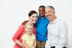 Studio Portrait Of Pre School Teachers With Pupils. Smiling Stock Images