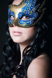 Mysterious beauty under the mask Royalty Free Stock Images