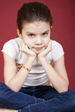 Studio portrait of a pretty little girl Royalty Free Stock Photography