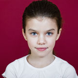Studio portrait of a pretty little girl Stock Images