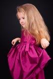 Studio portrait of a pretty little girl Stock Photos