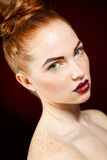 Studio portrait of red-haired girls Royalty Free Stock Photography