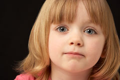 Studio Portrait Of Sad Young Girl Royalty Free Stock Photo