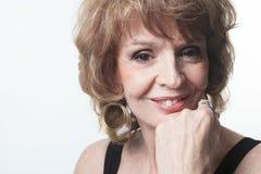 Studio Portrait Of a Senior Woman Royalty Free Stock Images
