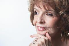 Studio Portrait Of a Senior Woman Royalty Free Stock Photography