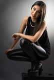 Studio portrait of a rocker chick Royalty Free Stock Images