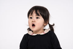 Studio portrait shot of 3-year-old Asian baby - isolated Stock Images