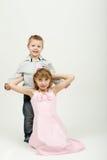 Studio portrait of siblings Stock Photography