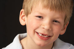 Studio Portrait Of Smiling Boy Royalty Free Stock Image
