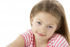 Studio Portrait of Smiling Girl Stock Photography