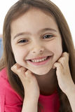 Studio Portrait of Smiling Girl Stock Image