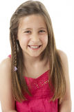 Studio Portrait of Smiling Girl Royalty Free Stock Photos