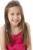 Studio Portrait of Smiling Girl Royalty Free Stock Photos