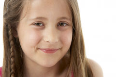 Studio Portrait of Smiling Girl Stock Images