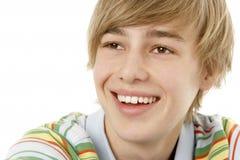 Studio Portrait Of Smiling Teenage Boy Stock Images