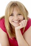 Studio Portrait Of Smiling Teenage Girl Stock Images